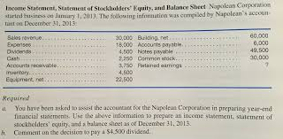 homework help stockholders equity statement comparison custom find the answer to this and other homework questions on justanswer