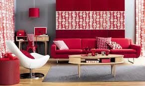 room arrangement red white