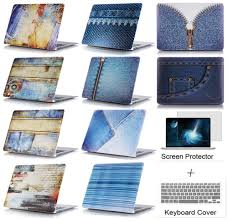 Jeans Pattern Retro <b>Protective</b> Cover <b>Shell laptop Protector Hard</b> ...