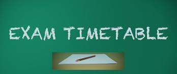 Image result for exam time table