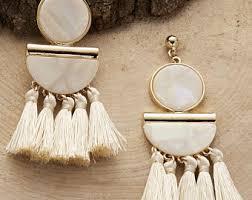 <b>Tassel drop earrings</b>   Etsy