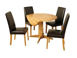 dining table parson chairs interior: pedestal dining table with black leather parsons chairs for traditional dining room design