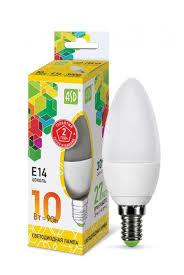 <b>Лампа</b> светодиодная <b>ASD LED</b>-<b>СВЕЧА</b>-STD 3000K, E14, C38, 10Вт