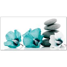 Teal And Grey Living Room Large Teal And Grey Canvas Pictures Of Flowers And Pebbles