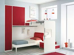exquisite bedroom kid ideas for small rooms design with white wood bunk bed along red wardrobe bedroomexquisite red white bedroom