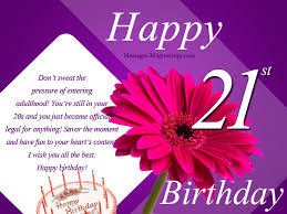 21st Birthday Wishes: 21st Birthday Messages and Greetings ... via Relatably.com