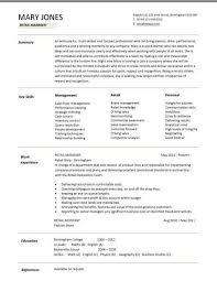 retail assistant store manager resume sample retail retail sales    retail  s manager resume