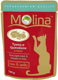 <b>Паучи Molina</b> для кошек 100 г - купить в ЮниЗоо в Москве или с ...