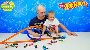 Хот Вилс Машинки и трек петля. Интересные игрушки для ...
