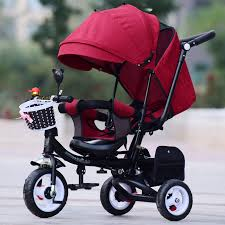 Online Shop Can Sit Lie <b>Baby Stroller 3 In</b> 1 Portable Baby Tricycle ...