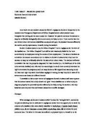 tort essay   problem question economic loss and duty of care  page  zoom in
