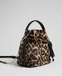 Faux fur <b>bucket</b> bag with <b>animal print Woman</b>, Fantasy | TWINSET ...