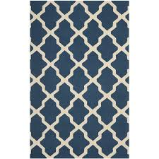 dark navy blue bath rugs: safavieh cambridge navy blue and ivory rectangular indoor tufted area rug common  x