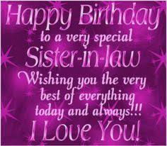Happy Birthday To A Special Sister In Law Quality Birthday Cards ... via Relatably.com