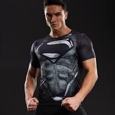 Superman <b>3D</b> Printed T shirts <b>Men Compression Shirts</b> Short Sleeve ...