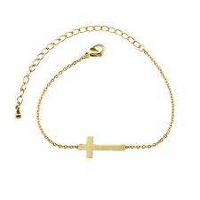 <b>10pcs</b>/<b>lot Gold Color</b> Cross Bracelets For Women Religion Charm ...