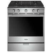 WHIRLPOOL Cuisinière au gaz intelligente, encastrable, <b>5,8</b> pi³ ...