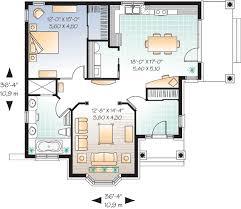 Affordable One Bedroom House Plan   DR   st Floor Master    Floor Plan