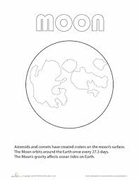 Small Picture Moon Coloring Page Educationcom Free Resources Assorted