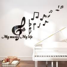 <b>Creative Note</b> Acrylic 3D Wall Stickers <b>Music</b> classroom Dance room ...