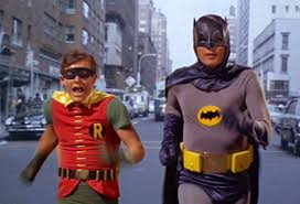 picture of batman and robin running
