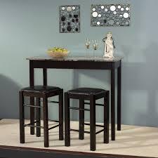 black gray wood pub table set