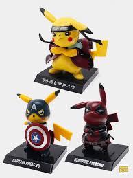 Фигурки <b>Pikachu Cosplay</b> (Наруто, Дэдпул, Капитана Америки) 3 ...
