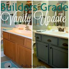 instead of replacing a builders grade vanity this clever diyer updated it beautifully for only 6000 chalk paint furniture