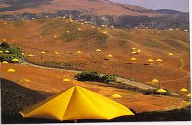 metre giant umbrella:  images about christo amp jeanne claude art on pinterest land art arkansas and oil barrel