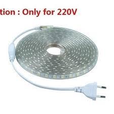 <b>SMD 5050 AC</b> 220V Led Strip Flexible Light 1M/2M/3M/4M/5M + EU ...