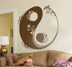 <b>Floral Yin</b> and <b>Yang</b> Sticker - TenStickers