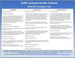 graduate academic calendars ku thesis and dissertation 2016 17 kumc academic calendar