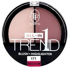 TF Cosmetics <b>Палетка хайлайтеров и</b> румян Trend All-In-One ...