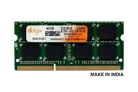 DRAM Dolgix <b>4GB DDR3 1333MHz Laptop</b> Ram - SODIMM, Voltage ...