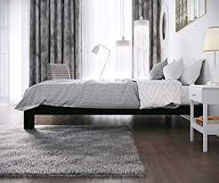 Amazoncom Stella Metal Platform Bed Frame  Modern Finish Thick And Wide Slats Black Kitchen U0026amp Dining