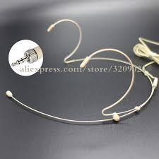 Pro Dual Ear Head <b>Headset Mic Headworn Microphone for</b> ...