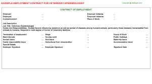 epidemiologist job titleveterinary epidemiologist employment contract