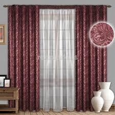 <b>Комплекты шторы</b> в гостиную Жаккард бордовые в Саратове 🥇