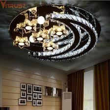 Crystal Ceiling Lights Modern LED Lamps <b>Living Room</b> Foyer ...