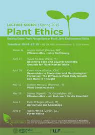 Lecture <b>Series</b> 2015 - <b>Plant</b> Ethics - Universität Wien