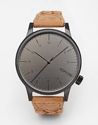 <b>Часы</b> с кожаным плетеным ремешком <b>Komono Winston</b> | ASOS