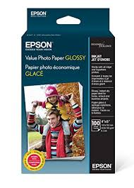 "<b>Epson</b> Value Photo <b>Paper Glossy</b>, 4""x6"", 100 Sheets (S400034 ..."