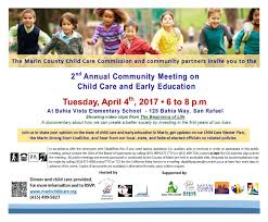 marin county child care commission your local planning council 4th annual community meeting on child care and early education