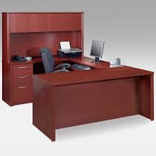 u shaped executive desk with hutch 02 basic office desk