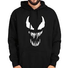 Comic Thick Venom Hoodie Sweatshirts Men Superhero Anime ...
