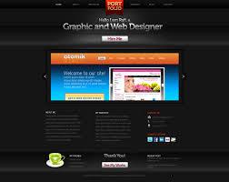 creative portfolio website psd template graphicsfuel preview of the portfolio design