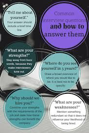common interview questions and how to answer them just be pixie common interview questions