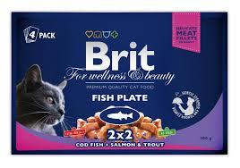 "<b>Паучи</b> для кошек, <b>Brit Premium</b>, ""Рыбная тарелка"" купить с ..."