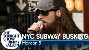 Maroon 5 Busks in NYC Subway in Disguise - YouTube