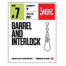 <b>Вертлюги c застежкой Lucky</b> John Pro Series Barrel And Interlock ...